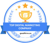 Top Digital Marketing Company award from Good Firms