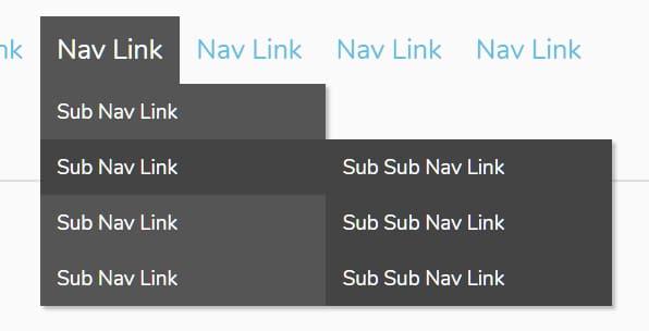 multi tiered navigation menu example