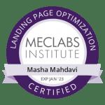MECLABS certified landing page optimization